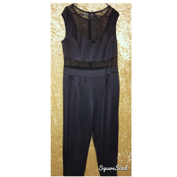 Ashley Stewart Pants - Just Meshing With You Black Romper
